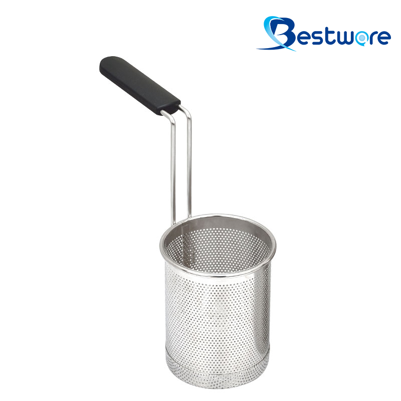 Cylindrical Stainless Steel Pasta Basket